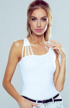 Eldar Iman asymetryczna koszulka biała