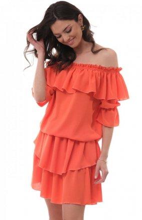 Kobieca sukienka hiszpanka orange OLL205