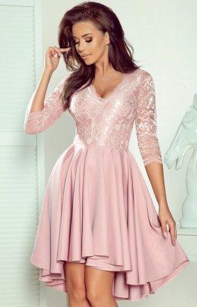 Pudrowa sukienka wieczorowa Numoco 210-11