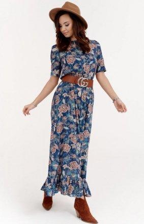 Szyfonowa sukienka w kwiaty 283/W02