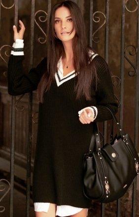 Sportowa sukienka czarna S69