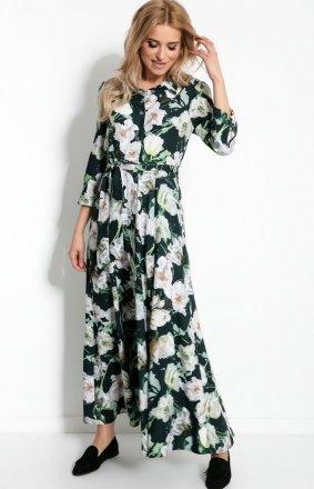 Sukienka maxi w kwiaty F894