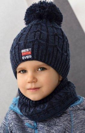 AJS 42-490 czapka i komin chłopięca
