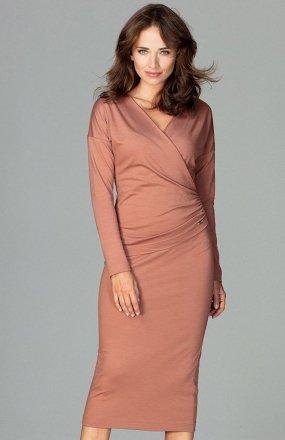 Lenitif K477 sukienka brązowa