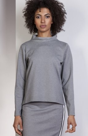 Bluza z dłuższym tyłem szara BLU139