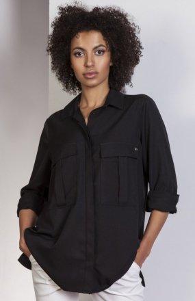 Koszula oversize czarna K108