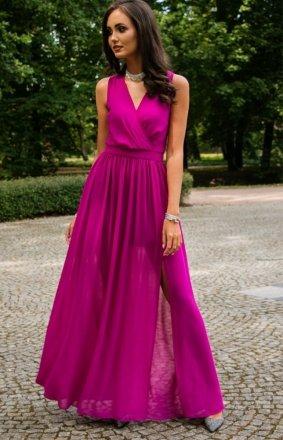 Długa szyfonowa sukienka 0209