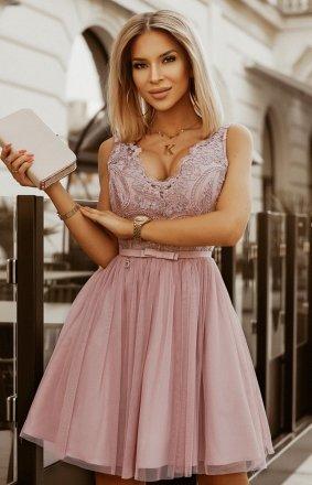 Rozkloszowana sukienka z koronką Bicotone 2206-24