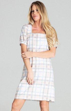 Sukienka w kratę Figl M704/111