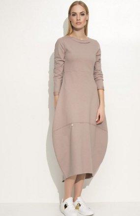 *Makadamia M337 sukienka cappucino