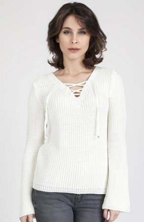 MKMSwetry Sweter Kylie SWE 117 Ecru