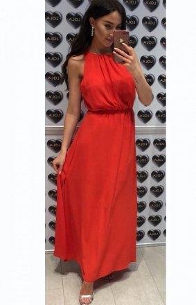 Elegancka sukienka rzymianka czerwona