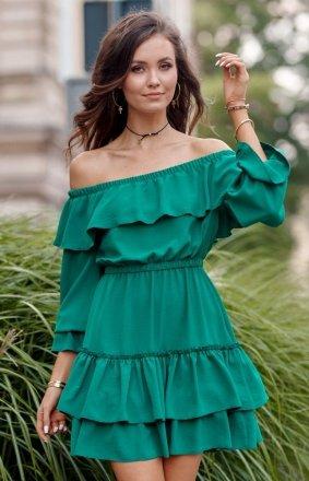 Kobieca sukienka hiszpanka zielona 0297