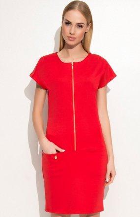 *Makadamia M346 sukienka czerwona