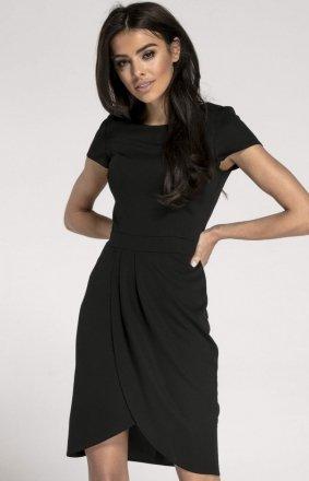 Sukienka typu tulipan czarna NA1008