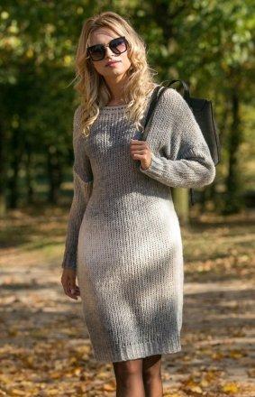 *Fobya F579 sukienka szara