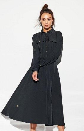 Sukienka maxi szmizjerka L314