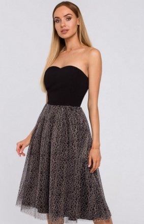 Wieczorowa sukienka z gorsetem M482