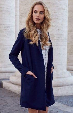Style S071 płaszcz blazer granatowy