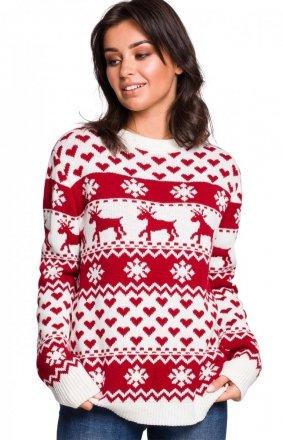 Świąteczny sweter w renifery BK039/2