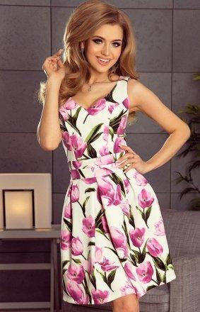 Numoco 160-4 sukienka w kwiaty