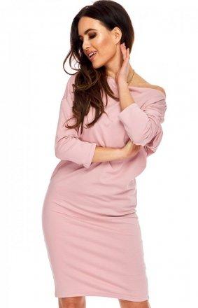 Różowa sukienka bawełniana tuba OLL121