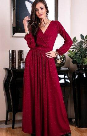 *Roco 0227 sukienka bordowa