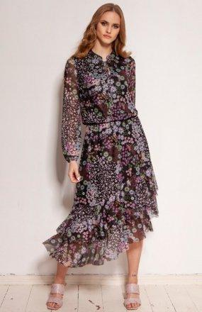Sukienka z siateczkowej tkaniny wzór SUK193