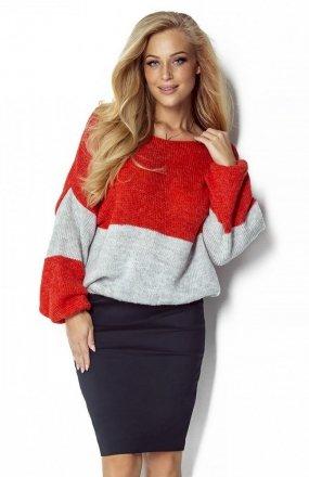 FIMFI I302 sweter pomarańczowy