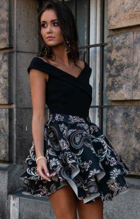 *Wieczorowa sukienka z podwójną falbaną 253/P01