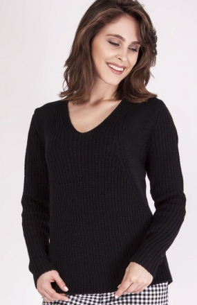 MKMSwetry Sweter Victoria SWE 123 Czarny