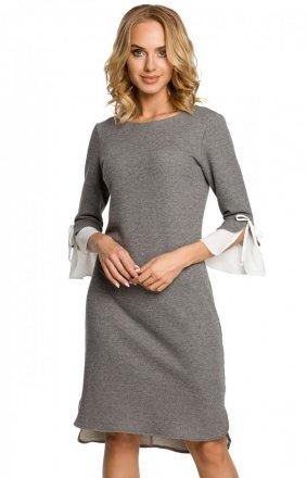 Moe M327 sukienka szara