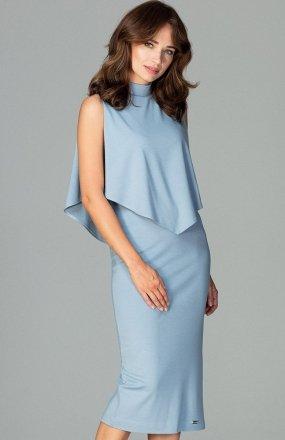 Lenitif K480 sukienka niebieska