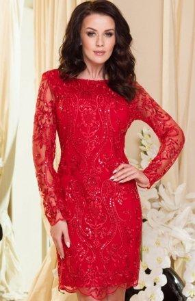 *Roco 0122 sukienka czerwona