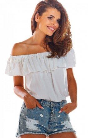 Bluzka hiszpanka biała A288
