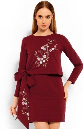 PeekaBoo 1624 sukienka bordowa