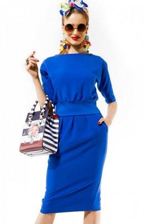 Kasia Miciak design mono sukienka chabrowa