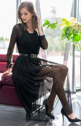Długa sukienka czarna Mariedam 1405