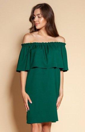 Krótka sukienka hiszpanka zielona SUK201