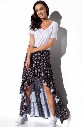 Asymetryczna sukienka z falbaną LG544/D15