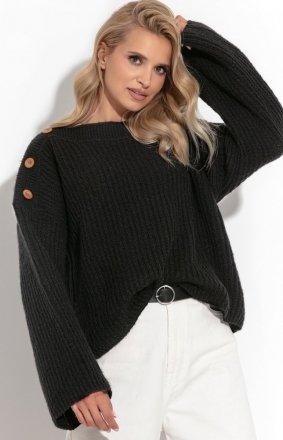 Oversizowy sweter z guziczkami F1265