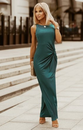 Wieczorowa sukienka maxi zielona 2226-13