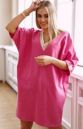 Oversizowa dresowa sukienka M626