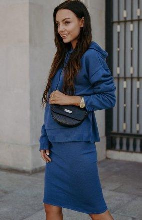 Dresowy komplet bluza i spódniczka jeans LSG133