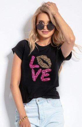 T-shirt damski z sercem K580