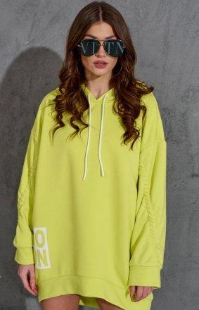 Oversizowa bluza damska 0006 limonka