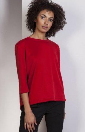 Luźna bluzka - frak czerwona BLU140