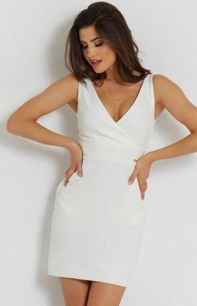 Seksowna śmietankowa sukienka Paola