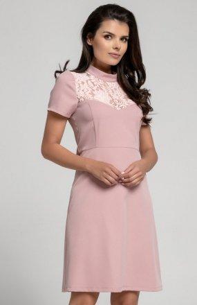 Nommo NA306 sukienka pudrowy róż