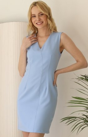 Taliowana mini sukienka damska blue Z377